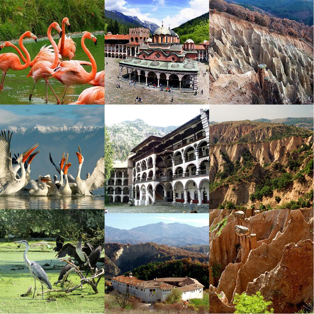 Мелнишки и Стобски пирамиди, Рилски и Роженски манастири, Езерото Керкини